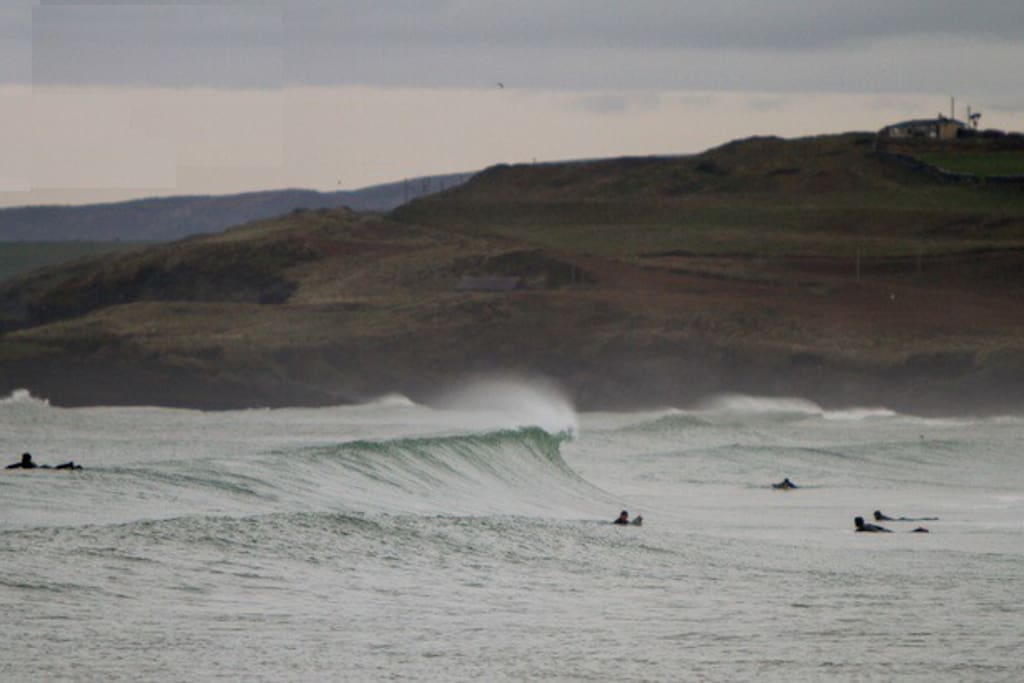 Surfers at Garretstown Beach 1 minute away.