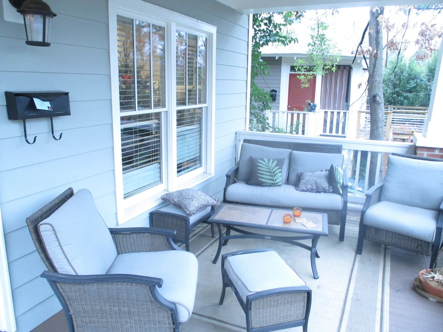 Our front porch and where we spend as much time as possible