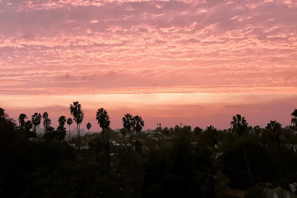 Stunning sunsets from the private patio deck