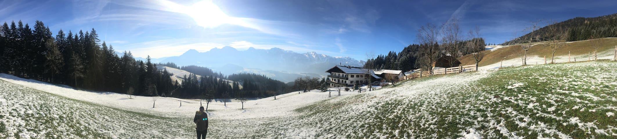 Gusti's Urlaub am Bauernhof mit Panorama