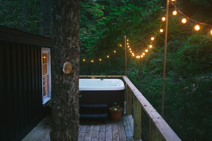 Enjoy a warm soak and the soothing sounds of the creek.