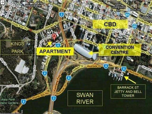 Mounts Bay Road Apartment WFI/Pool/Gym