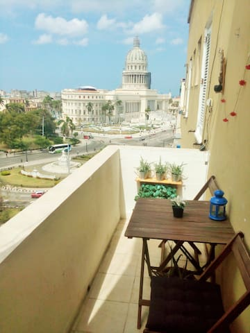 balcony with great views