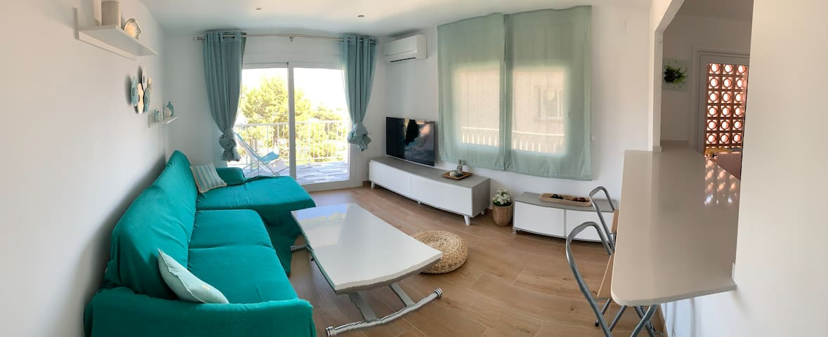 New Full Equip Apartment SITGES Wonderful Sea View