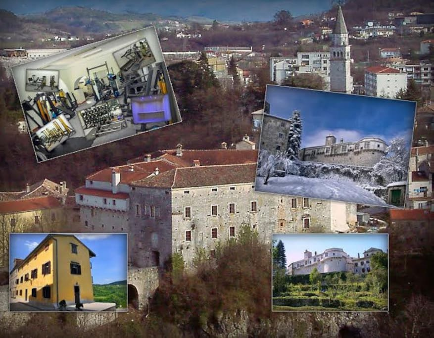 a collage of Pazin