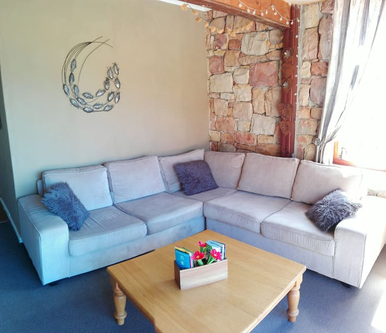 Relax in the comfy lounge