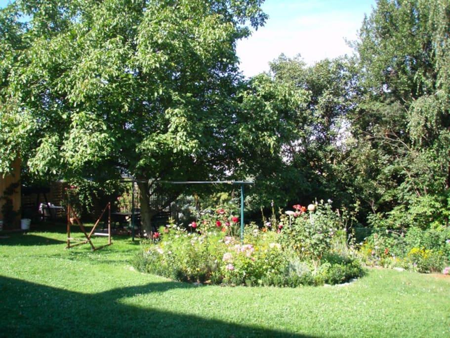 Wunderschöner sonniger Garten zum Entspannen und Genießen.