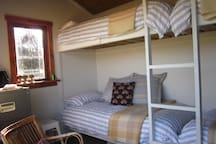 Purpose built cabin with super comfy built in bunks ideal for friends or families.