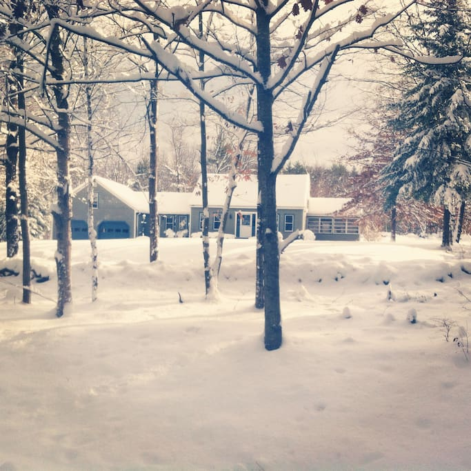 Winter Time! Last winter before the house was painted.