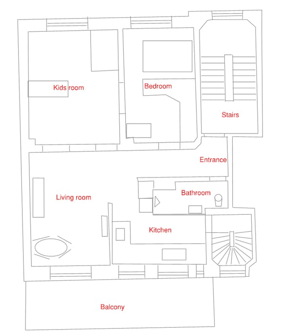This floorplan is not at scale