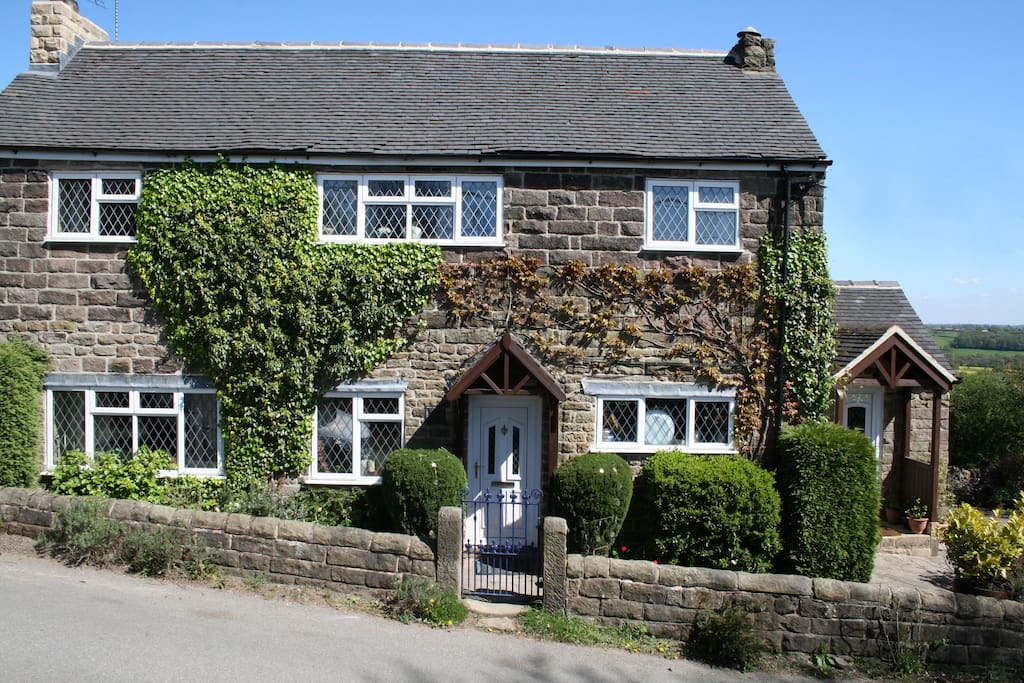The cottage is half-way up a hill and is thought to be about 400 years old.
