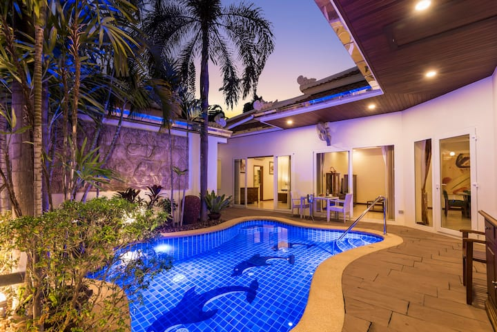 ★★★★★Luxury 3BR Pool Villa Pratamnak 50m to beach