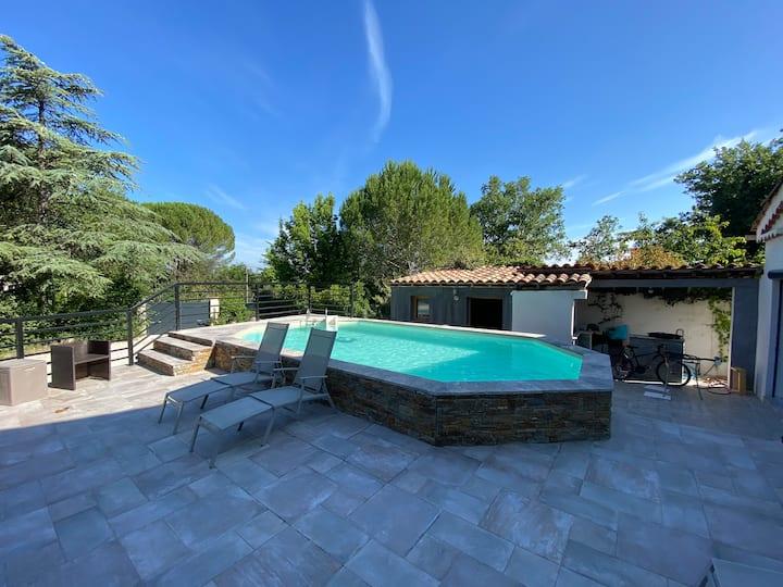 Villa de 170 m2, Climatisée Piscine