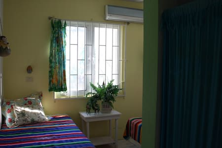 Twin beds tropical island paradise  - Isla Mujeres - Bed & Breakfast