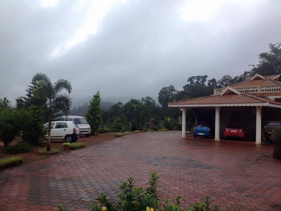Kollur mookambika plantation view room on terrace for Terrace 6 indore address