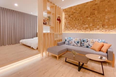 Cozy Apartment, 10 min. to Station近廟口夜市 雙人房可加床#4.1