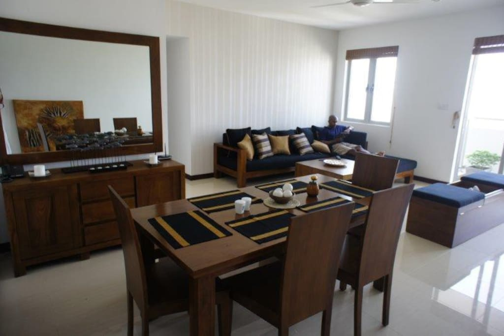 General room layout.  All Teak furniture, custom made and locally made.