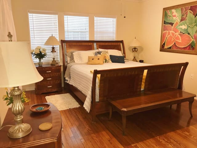 King Size bed in Master Bedroom!
