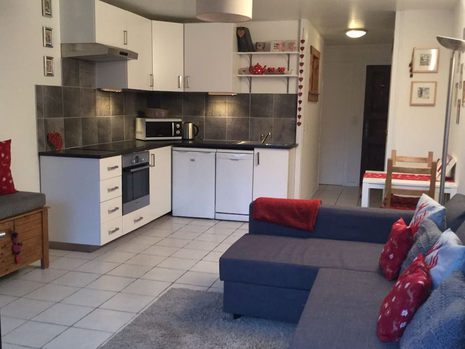 New renovated kitchen and living area