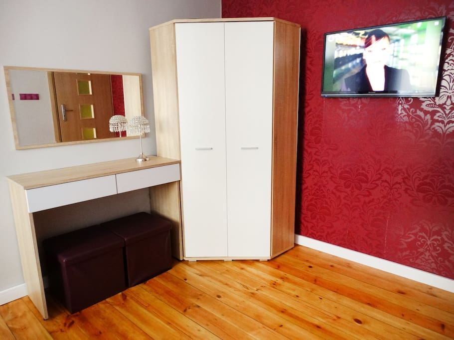 wardrobe with a dressing table