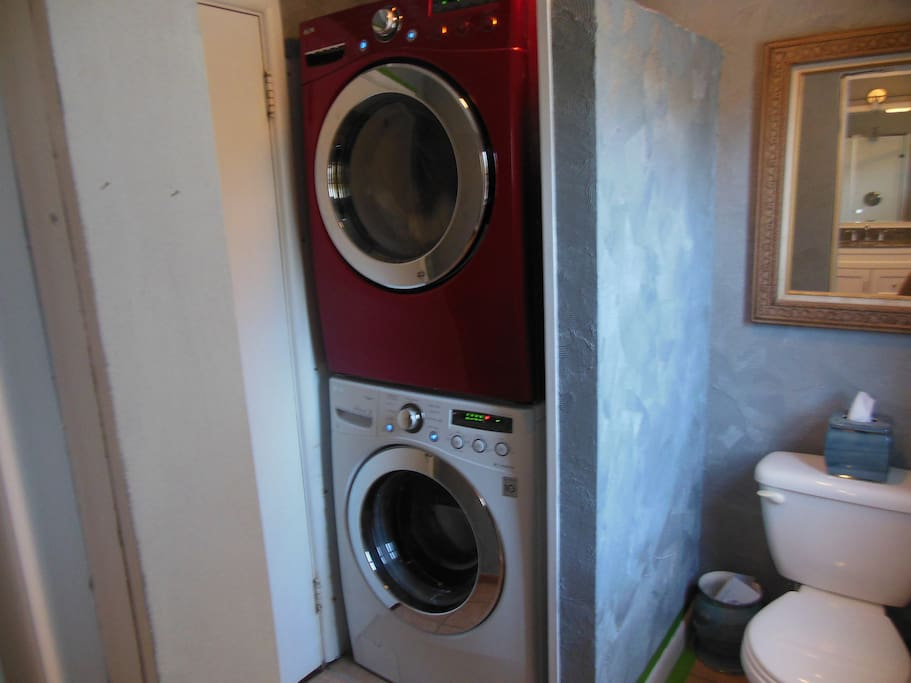 Guest bathroom and washer and dryer