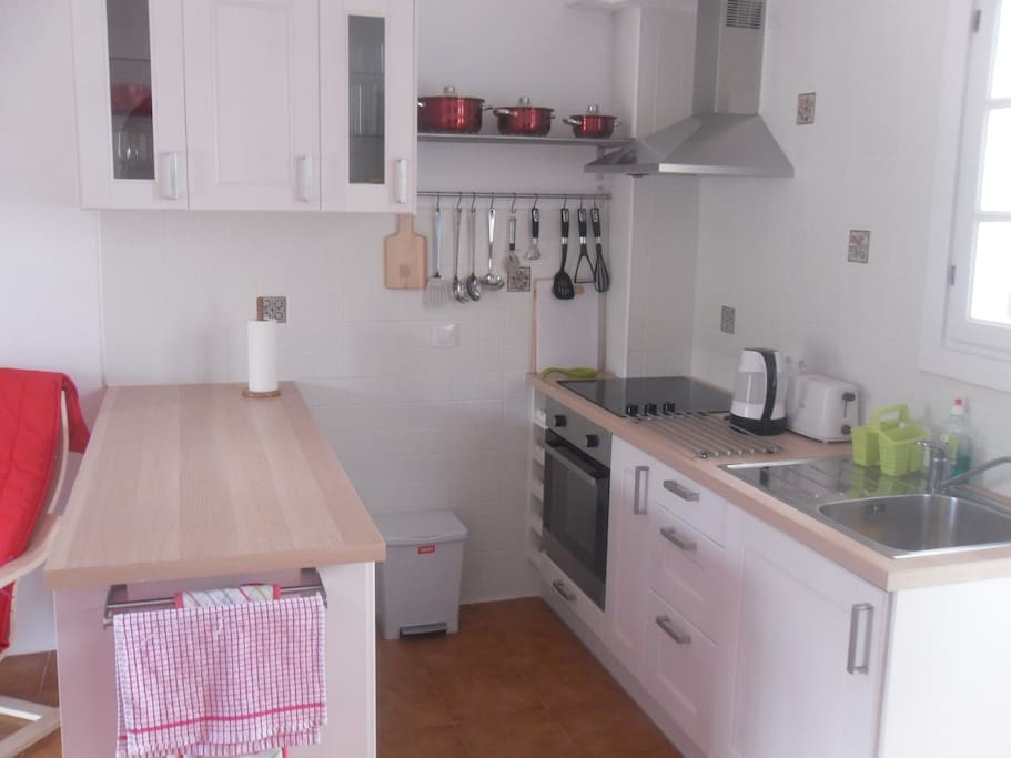 The newly fitted kitchen