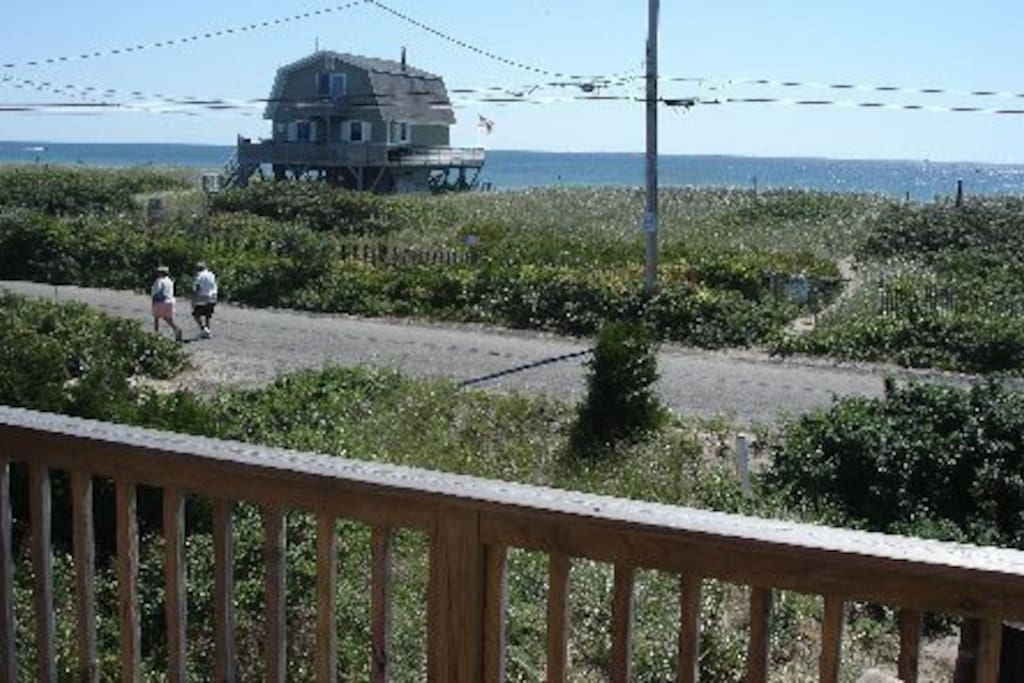 Front View of Ocean, Path thru Dune to shore