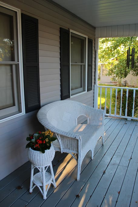 Enjoy the covered front porch