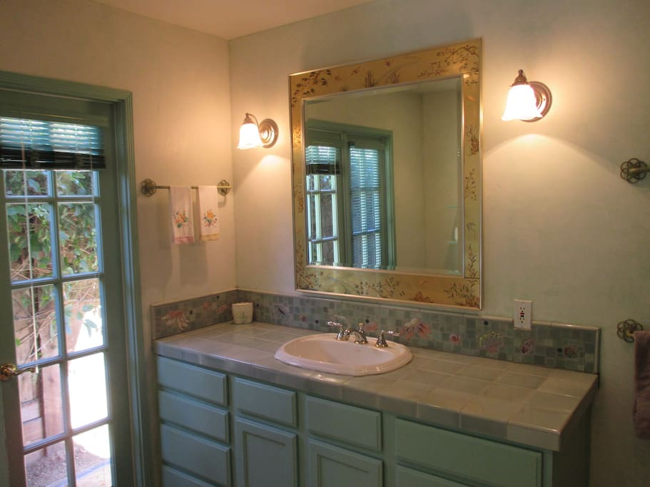 Bathroom with handcrafted tile