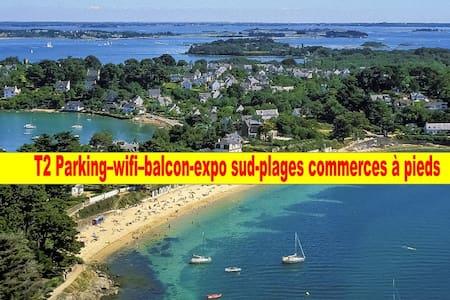 T2 sud large baie vue jardin wifi plages commerces - Saint-Philibert