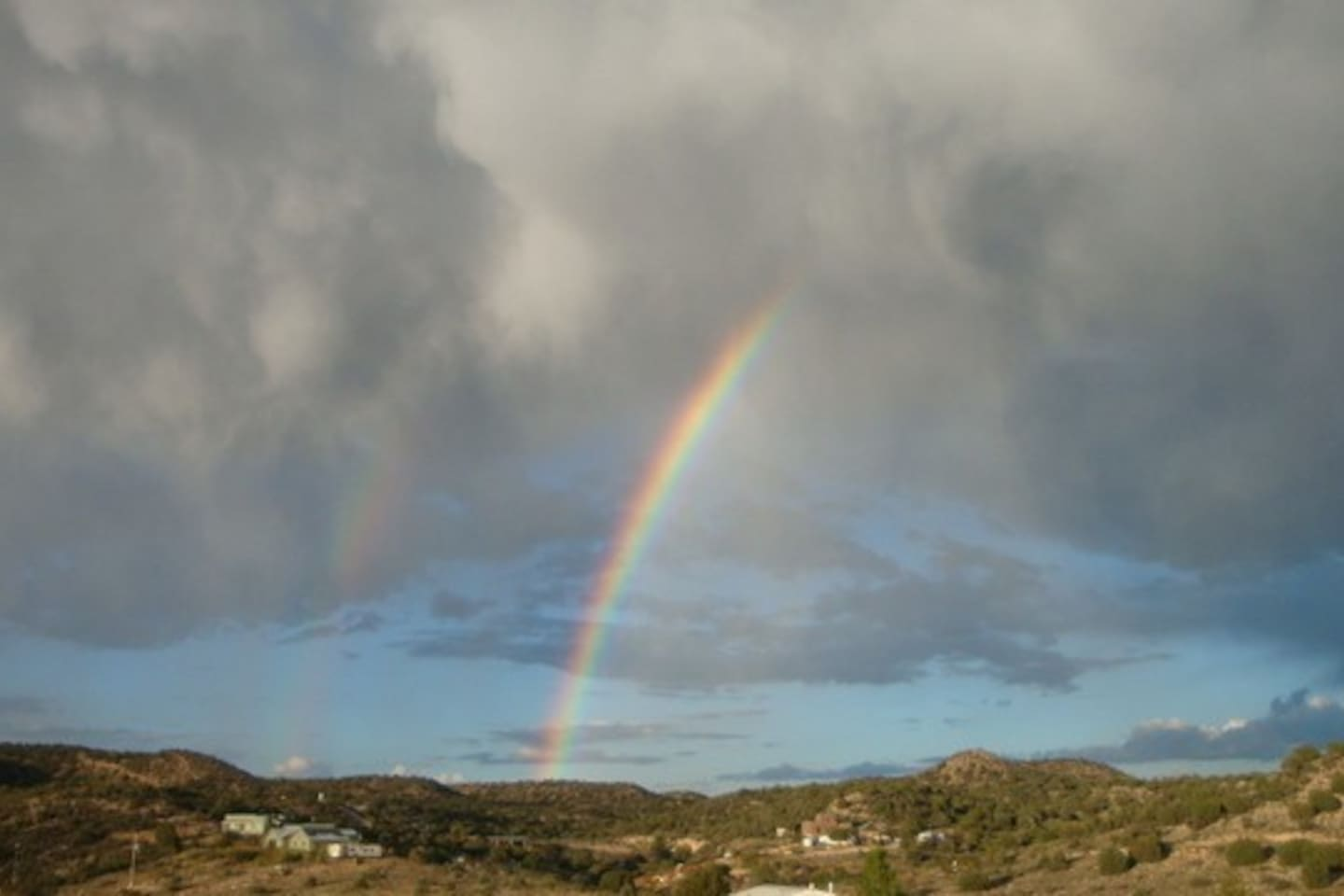 Rainbow viewed from the front of the home.