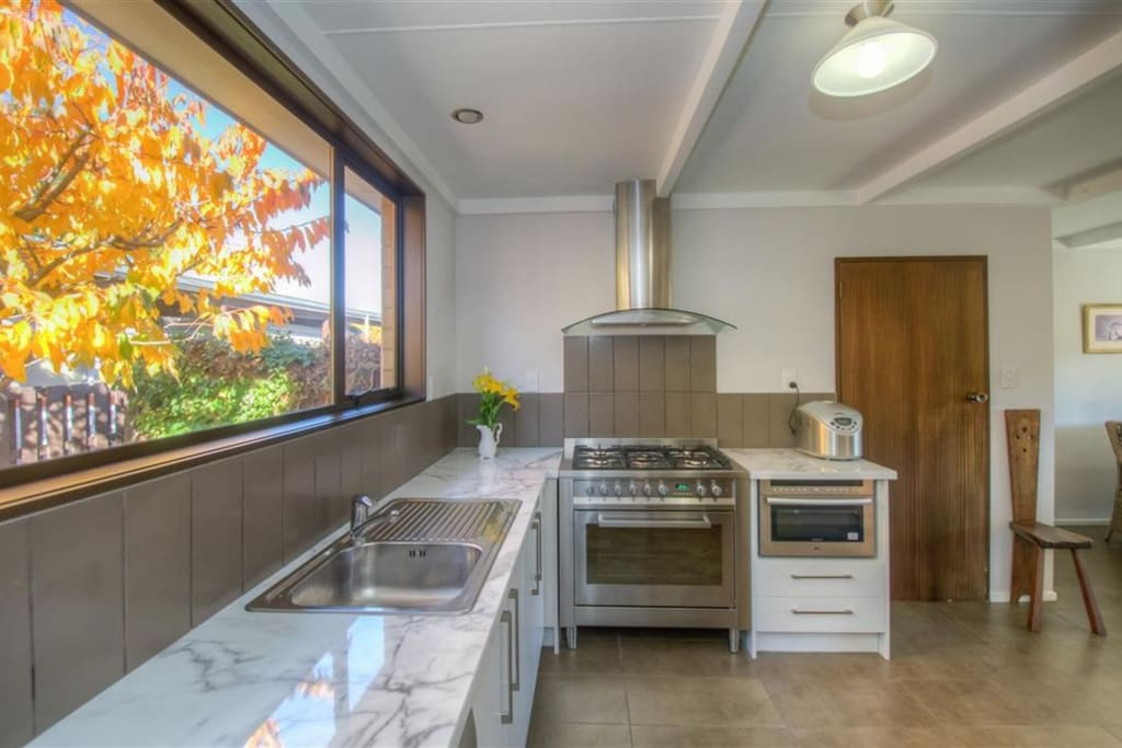 Kitchen- Gas cooker-oven Refrigerators available Microwave Toaster