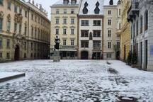 Judenplatz, one of our favorite secret places of Vienna