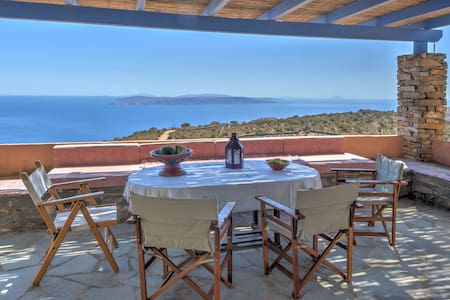 Summer Cottage-Spectacular views over Aegean Blue