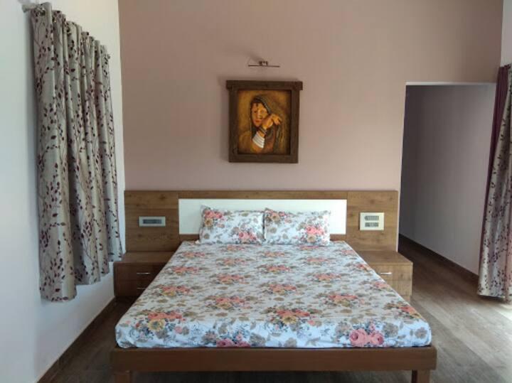 Nakshatra Villa One upper deck room with terrace