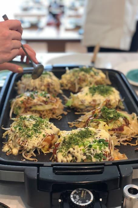 You'll learn Hiroshima-style Okonomiyaki