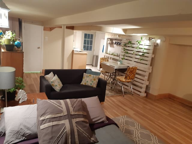Private, cozy, basement studio on Queen West