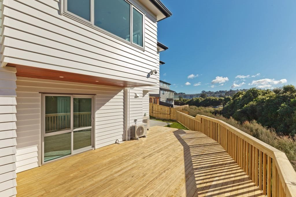 Deck can be access from the house for outdoor activity.