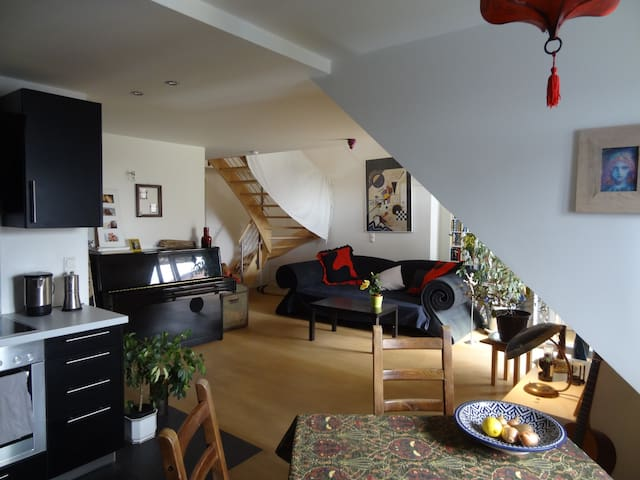 Feel at home! Open-space apartment with terrace - München - Appartement