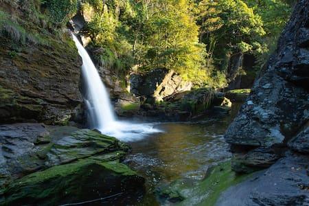Peace and Nature where Waterfalls meet the Sea