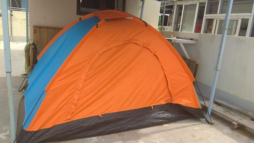 Tent on the rooftop