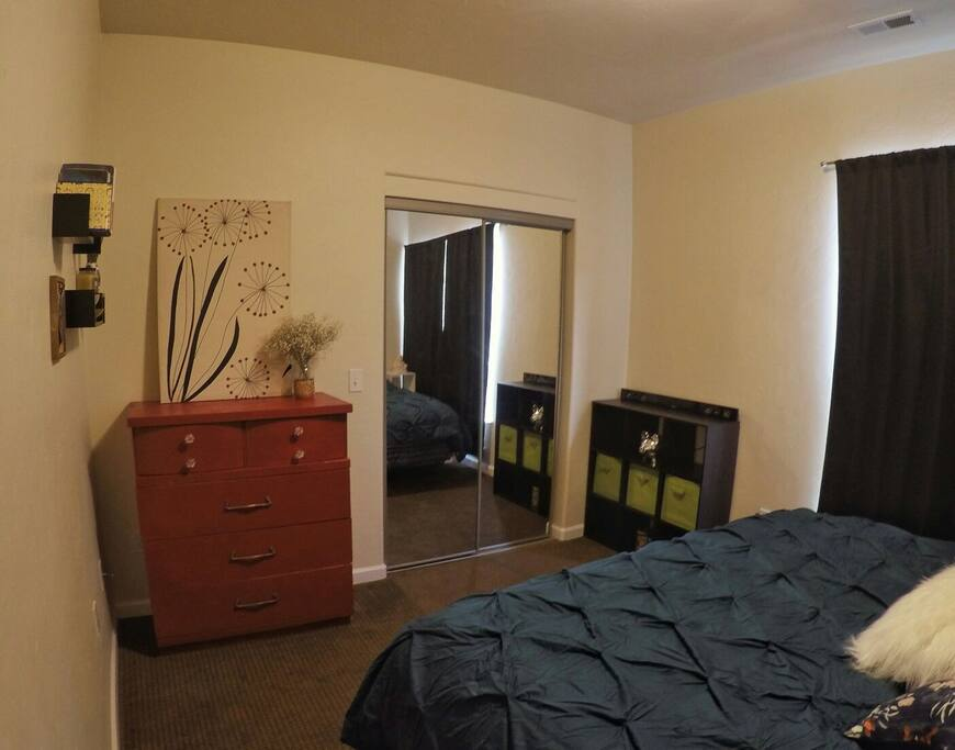 Plenty of space and storage in this master, including a large walk-in closet.