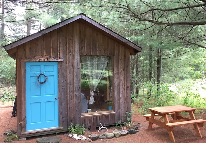 Artsy Pine Cabin in the Woods