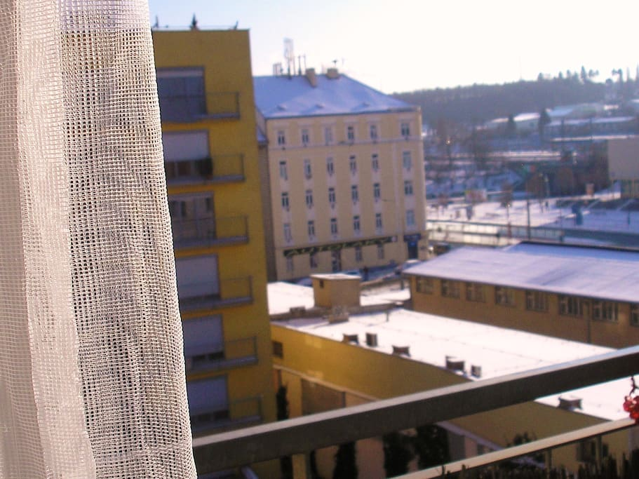 Pohled z okna .