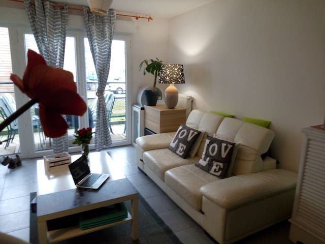 apartment in securise residence - queen size beds - Caen - Apartamento