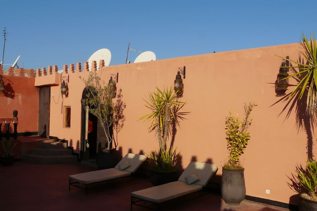 Your private rooftop terrace (with blue sky)