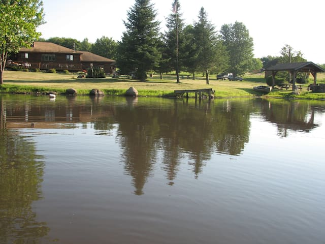 From the front pond