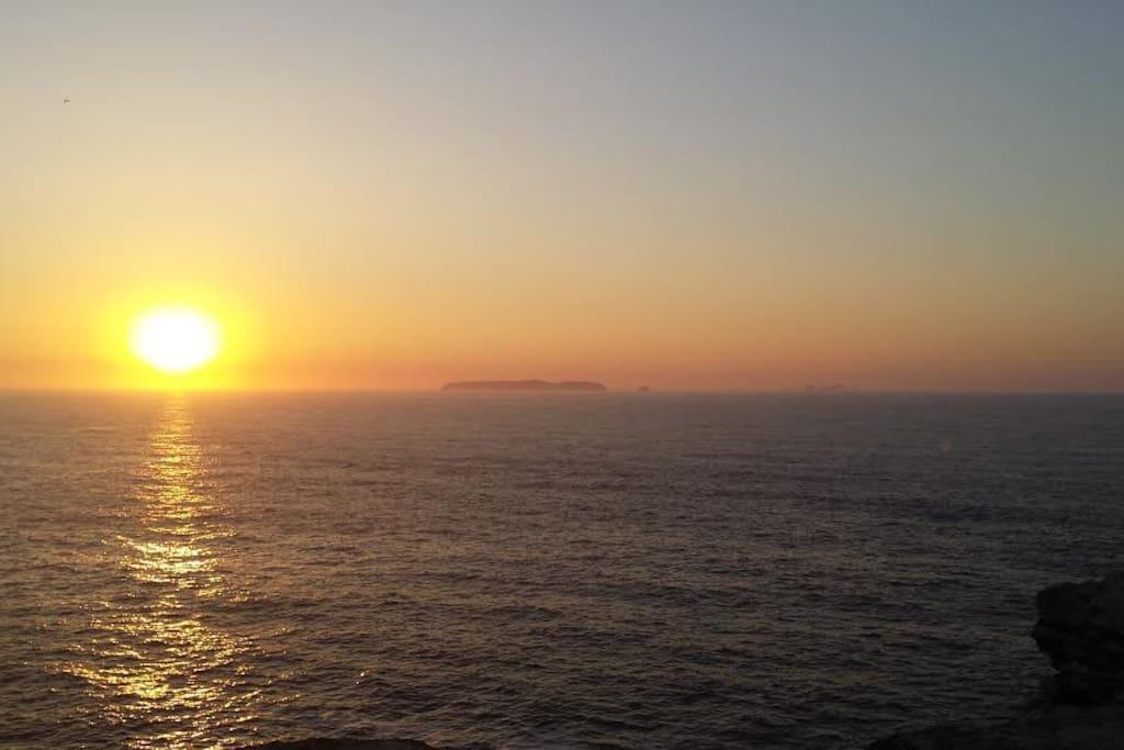 Pôr do sol no Cabo Carvoeiro