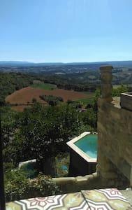 Un balcon sur le Luberon vue /piscine /Forcalquier - Lurs