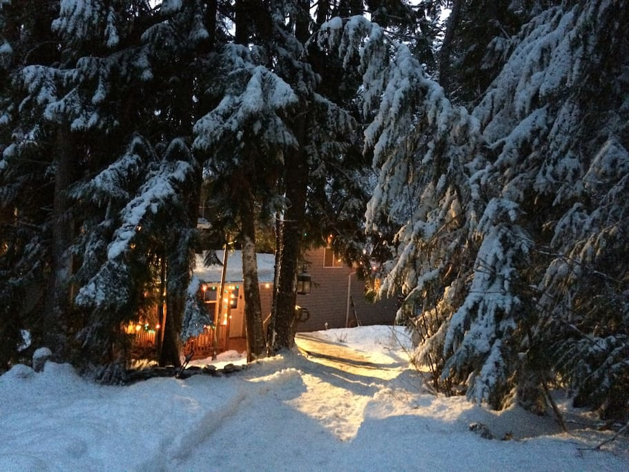 Our cozy home in the winter.